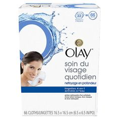 Olay Daily Facials Water Activated Dry Cloths, Deeply Purifying Clean, 66 Count (Pack of - Packaging May Vary Cream For Dry Skin, Skin Cream, Organic Skin Care, Natural Skin Care, Lotion Tonique, Combination Skin Care, Dry Skin On Face, Exfoliant, Olay