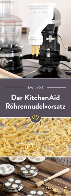 Fusilli, Bucatini, Rigatoni - Foodbloggerin Janina hat getestet, ob der KitchenAid Röhrennudelvorsatz hält, was er verspricht.