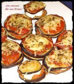 Caprichos de berenjena y queso de cabra Vegetable Recipes, Vegetarian Recipes, Cooking Recipes, Healthy Recipes, Tapas, Eggplant Recipes, Slow Food, Side Dish Recipes, Quick Meals