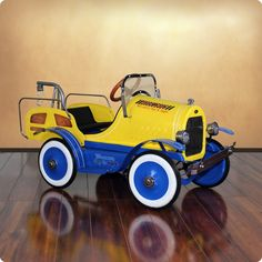 Deluxe Tow Truck Roadster Pedal Car for Kids from www.wellappointedhouse.com #baby #kids #toys