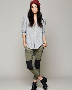 Free People Patched Pants