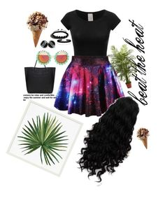 """""""galaxy summer"""" by barbie-ammara ❤ liked on Polyvore featuring Ciel, Pottery Barn, Shamballa Jewels, Miss Selfridge, Rad+Refined and Nearly Natural"""