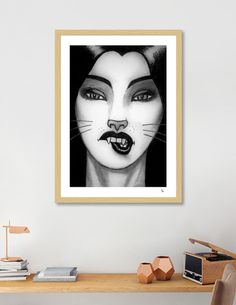 Discover «Kitten», Exclusive Edition Fine Art Print by Ken Grey Bear - From $25 - Curioos