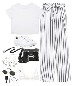 """Untitled #5260"" by fashionnfacts ❤ liked on Polyvore featuring Eytys, Prada, Ray-Ban, Anine Bing and NARS Cosmetics"