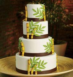Cake Obsessions - New York, NY Wedding Cake - Organic themed cake designed for BRIDES magazine! Unique Wedding Cakes, Beautiful Wedding Cakes, Beautiful Cakes, Amazing Cakes, Panda Birthday Party, Panda Cakes, Hawaiian Luau Party, Cakes For Women, Different Cakes