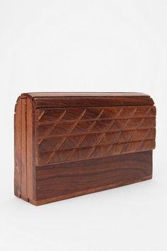 Ecote Wooden Clutch