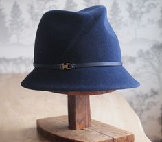 Agnes  II Assymetrical fedora with diagonal crease by AmyLehfeldt, $250.00