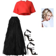 Untitled #198 by nadiak12 on Polyvore featuring polyvore fashion style Rosie Assoulin Monique Lhuillier Dsquared2