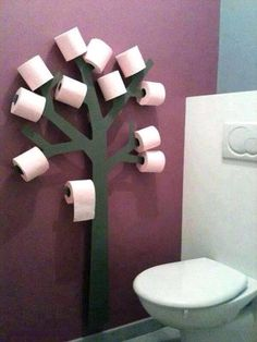 Bathroom decor loo roll holder