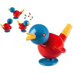 $7.99 Ambi Chirpy Bird - Two in One Whistle and Bath Toy. Chirpy is a whistle  a bath toy at the same time! Fill him up with water, blow into his tail  hear him sing. Floats in the water, too!