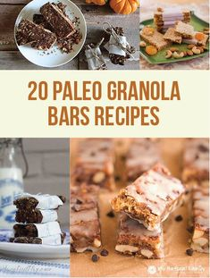 Paleo Granola Bars Recipes. More recipes for clean eating. Perfect for a meal on the go. Visit www.iwannaburnfat.com