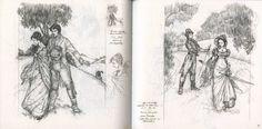 Enchanting art from Emma by Himmapaan  for Folio Society
