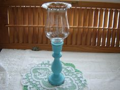 Turquoise hand painted home interior votive candleholder; distressed; votive holder included; home décor; beach cottage décor; candleholder; votive
