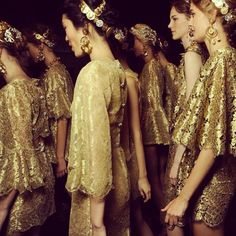 Backstage at Dolce and Gabbana spring/summer 2014