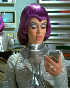 Actress Gabrielle Drake (sister of musician Nick Drake) in character as Lt. Gay Ellis from UK television show, 'UFO. Science Fiction Kunst, Ufo Tv Series, Nick Drake, Sci Fi Tv, Space Girl, Dangerous Minds, British Actresses, Retro Futurism, Sci Fi Fantasy