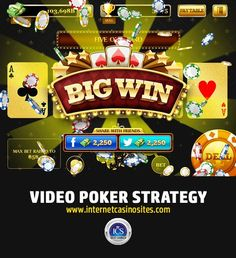 How to play Video Poker, Tips to increase your odds & Video poker strategy! Online Casino Slots, Online Gambling, Best Online Casino, Best Casino, Casino Promotion, Video Poker, Play, Tips, Vegas