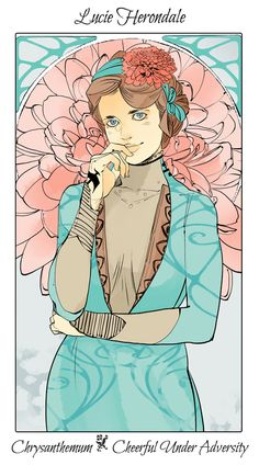 Drawn by Cassandra Jean ... lucie herondale, the last hours, the mysterious tlh, flower card