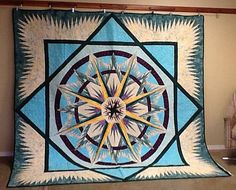 Mariner's Compass, Quiltworx.com, Made by Alyce Thomson.