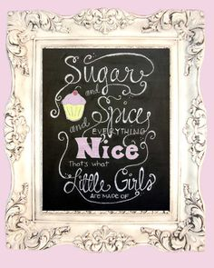 Sugar and Spice and Everything Nicehand by TheBlackandWhiteShop