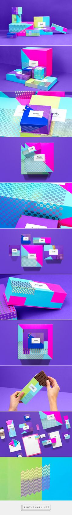 Amado bakery and candy boutique by Anagrama. special thanks to team member Jeny Mihailova for alerting me to this stellar PD Branding And Packaging, Candy Packaging, Bakery Packaging, Cool Packaging, Cosmetic Packaging, Business Branding, Module Design, Photography Packaging, Brand Board