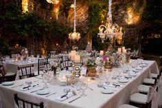 elegant outdoor garden dinner party