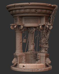 Old Well, Pranav Mahendra on ArtStation at https://www.artstation.com/artwork/X4Zby