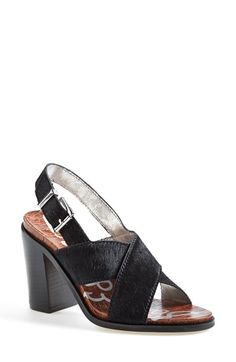 Sam Edelman 'Ivy' Calf Hair Slingback Sandal (Women) available at #Nordstrom