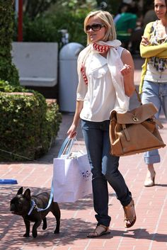 Reese Witherspoon-Famous French Bulldogs - Celebrity French Bulldog Owners