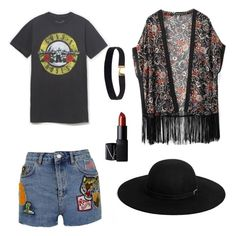 """Coachella #2"" by acidic-alien on Polyvore featuring WithChic, Topshop, NARS Cosmetics, Boohoo and dream"