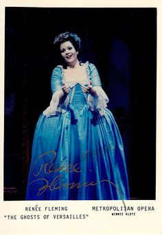 Fleming, Renee - Signed Photo in Ghosts of Versailles, World Premiere 1991