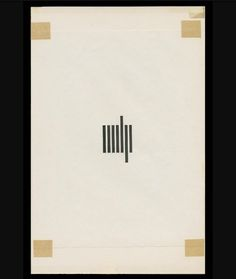 Posted by graphicmeans : Mechanical for MIT Press logo by Muriel Cooper.