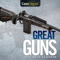 The Gun Digest Great Guns 2016 Calendar features intriguing gun facts and firearms information for every day of the year! Makes a great gift for rifle, handgun, and shotgun enthusiasts.