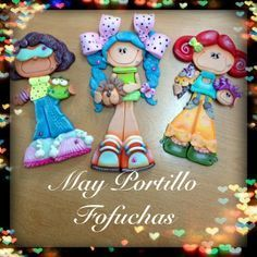 Creaciones Km, un mundo de fantasia : Muñecas Planas Foam Crafts, Diy Crafts, Clay Projects, Projects To Try, Polymer Clay Miniatures, Crafts For Kids, Arts And Crafts, Clay Figures, Pasta Flexible