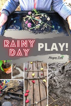 Opportunities for rain play are sorely missing in most childhoods today. This post is full of ways to support and encourage rain play with elementary aged students during recess, or with cross-curricular connections during instructional time. #outdoorclassroom #outdoored #outdooreducation #rainplay #mudkitchen #playoutside #outsideplay #play Outdoor Education, Outdoor Learning, Outdoor Play, Forest School Activities, Classroom Activities, Classroom Organization, Outdoor School, Outdoor Classroom, Cross Curricular
