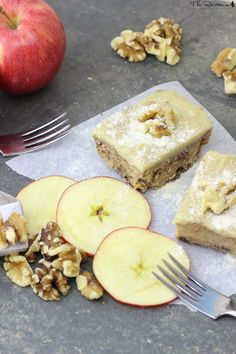 Apple Walnut Cake: light, moist, and dehydrator-free (raw, vegan).,