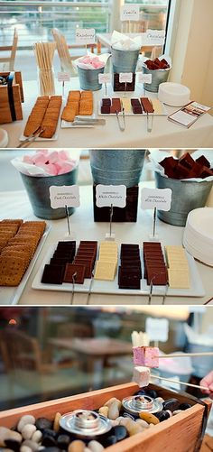 DIY wedding s'mores bar