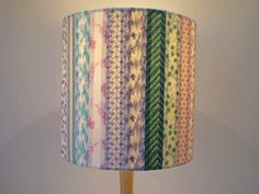 Tall 6 x 8 hessian fabric make your own lampshade kit in ecru cream sew your own patchwork lamp shade cover tutorial mozeypictures Images