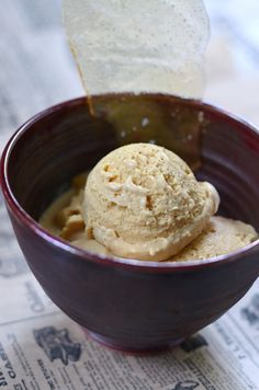 Salted Caramel Ice Cream With Salted Caramel Shards from @Shulie Madnick
