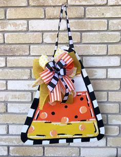 Candy Corn - Candy Corn Door Hanger - Door Hanger - Halloween door hanger - Fall…
