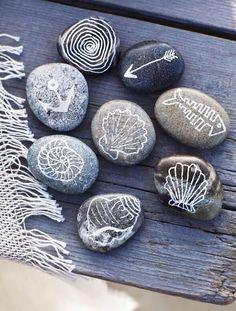 Customizable Nautical painted rocks by DakotahLeighs on Etsy, $15.00