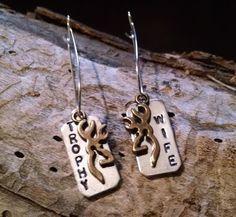 Trophy Wife Hunting Earrings