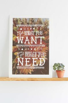 Pony Gold Get What You Need Art Print - Urban Outfitters