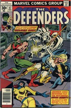 The Defenders # 47 , May 1977 , Marvel Comics Vol 1 1972 On the cover : Defenders ; Marvel Comics, Hq Marvel, Old Comics, Marvel Comic Books, Vintage Comics, Comic Book Characters, Marvel Characters, Comic Books Art, Comic Character
