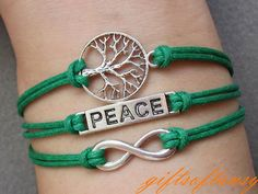 Peace Bracelet Antique Silver Tree of Life by GiftsofTansy on Etsy, $5.49
