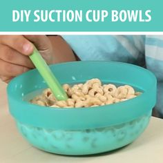 Stop Spills With These Clever DIY Suction Bowls