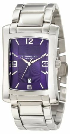 Stuhrling Original Men's 144A.33116 Classic Gatsby Society II Swiss Quartz Date Watch Stuhrling Original. $81.00. Blue hydraulically textured dial with silver hands and markers. High polished stainless steel link bracelet. Water-resistant to 99 feet (30 M). Classic Three Hand movement with quick-set date complication. Domed and beveled protective Krysterna crystal