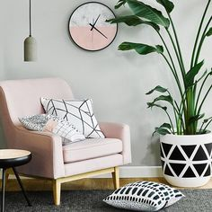 Dulux Lyttelton Half provides a cool, relaxing backdrop for blush highlights in…