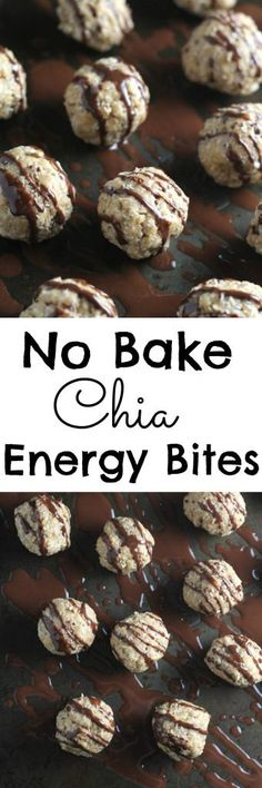 An easy no bake recipe for gluten free energy bites made with oats, nut butter and chia seeds