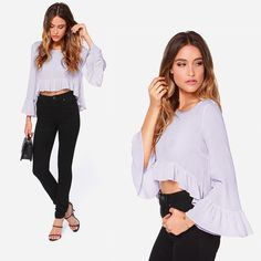 Wanna be sweet and simple in wearing? This #womentopshirt is definitely a good choice!  The solid color and soft material gonna make you love it!