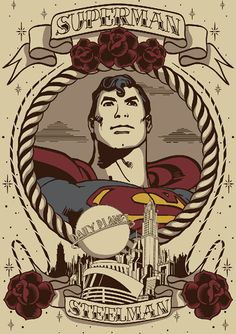 old school superman tattoo - Google Search